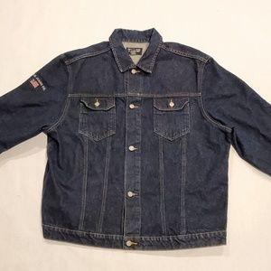 Dark Wash Vintage Polo Jean's Denim Trucker Jacket